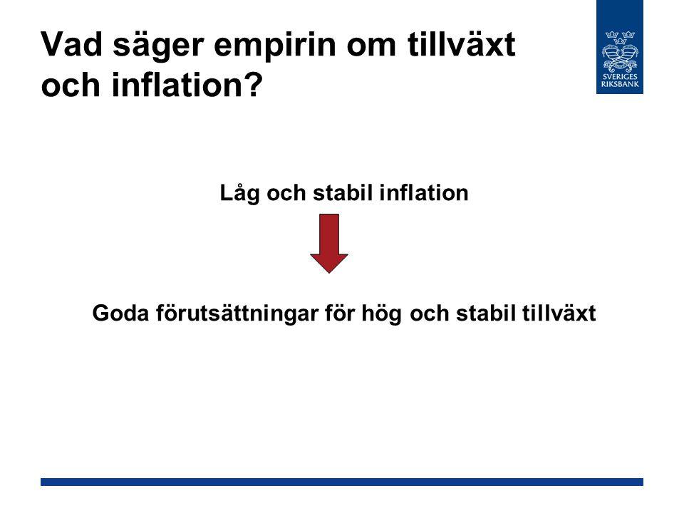 Vad säger empirin om tillväxt och inflation