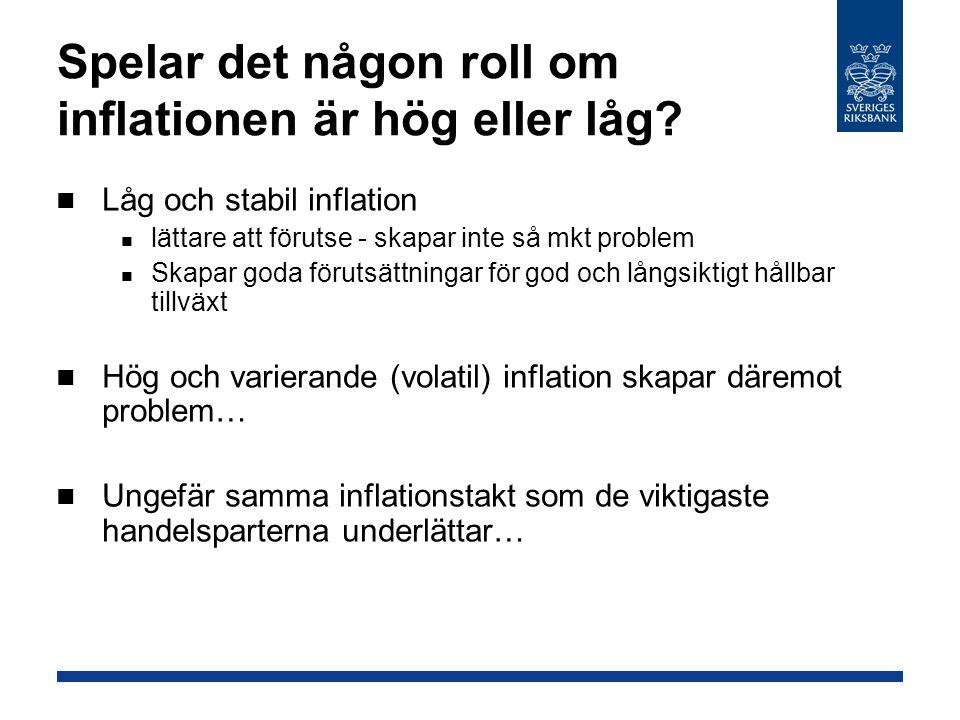 Spelar det någon roll om inflationen är hög eller låg