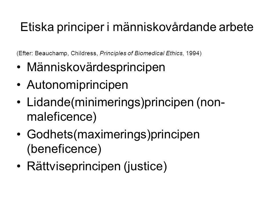 Etiska principer i människovårdande arbete
