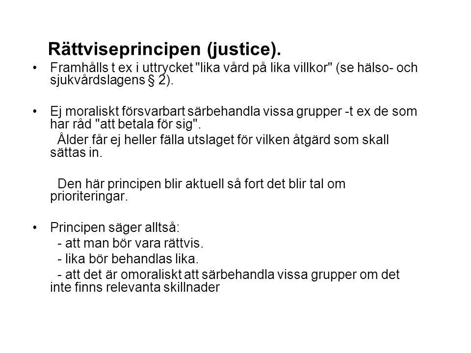 Rättviseprincipen (justice).
