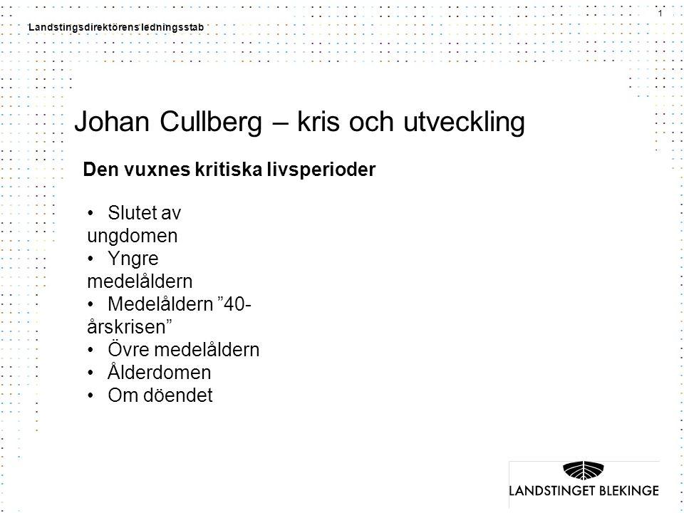 Johan Cullberg – kris och utveckling