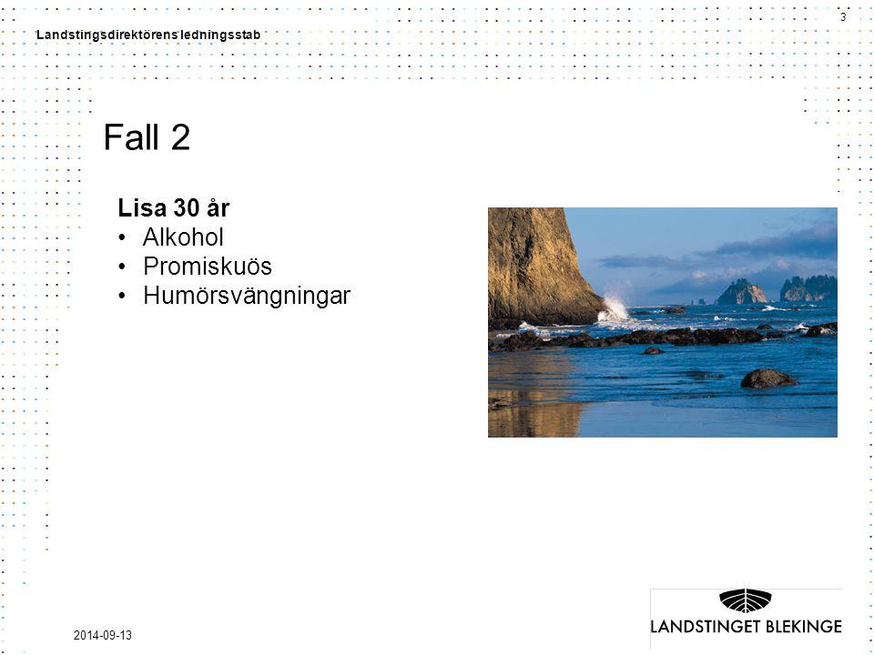 Fall 2 Lisa 30 år Alkohol Promiskuös Humörsvängningar 2017-04-06