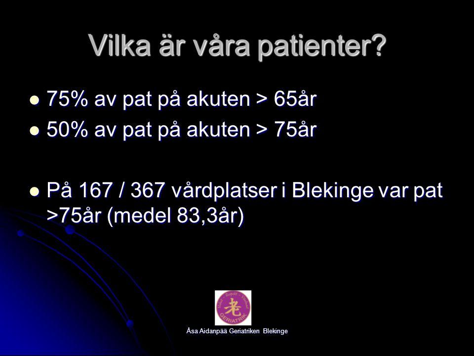 Vilka är våra patienter