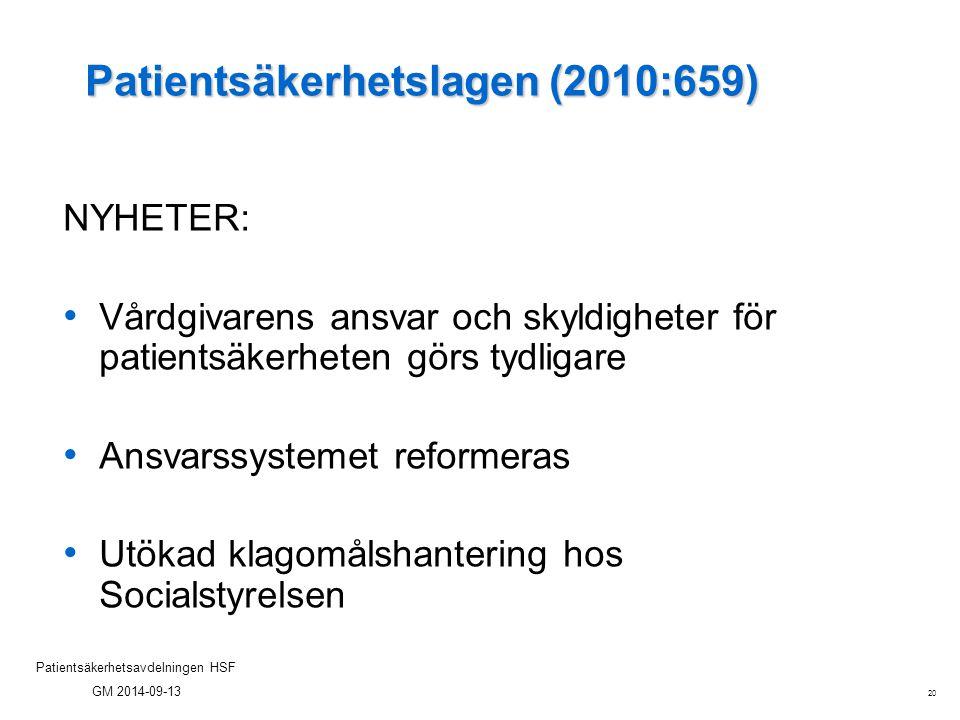 Patientsäkerhetslagen (2010:659)