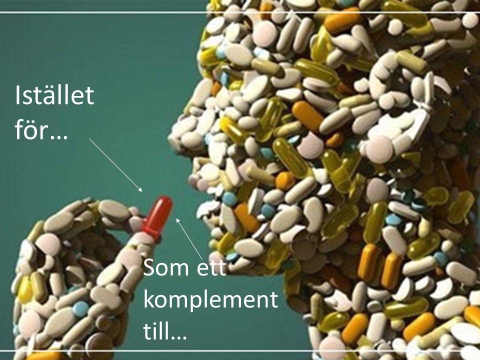 Kan vi ersätta läkemedel med mat