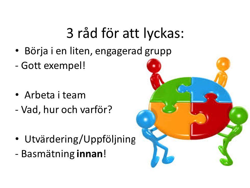 3 råd för att lyckas: Börja i en liten, engagerad grupp
