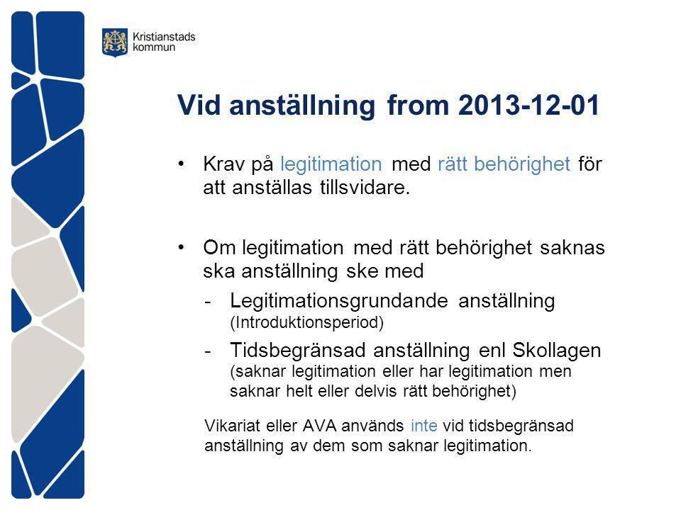 Vid anställning from 2013-12-01