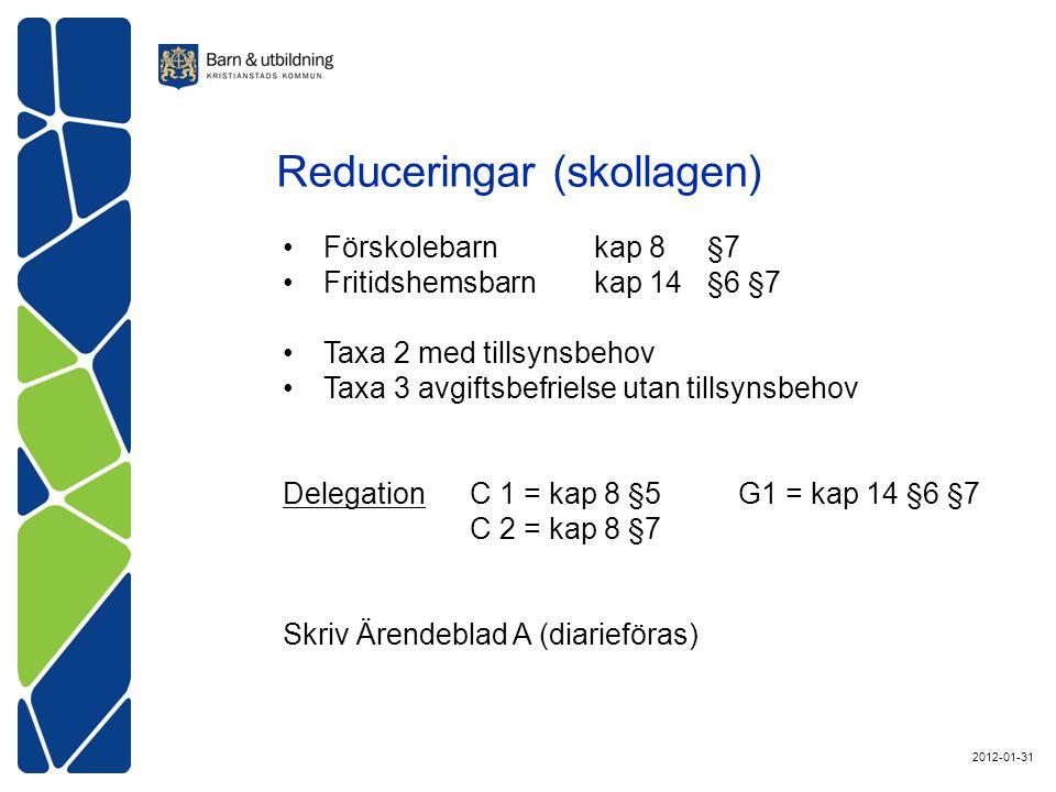 Reduceringar (skollagen)