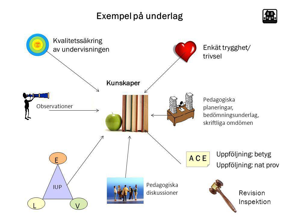 Exempel på underlag E L V Kunskaper Revision Inspektion