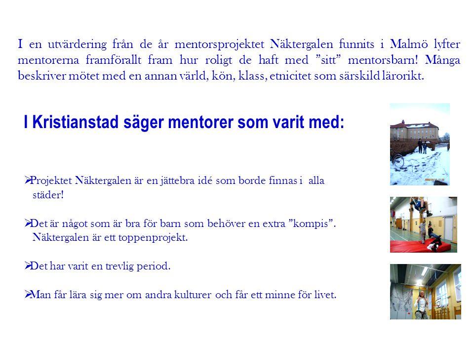 I Kristianstad säger mentorer som varit med: