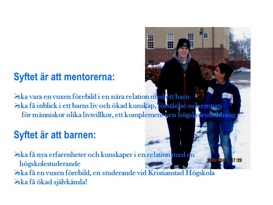 Syftet är att mentorerna: