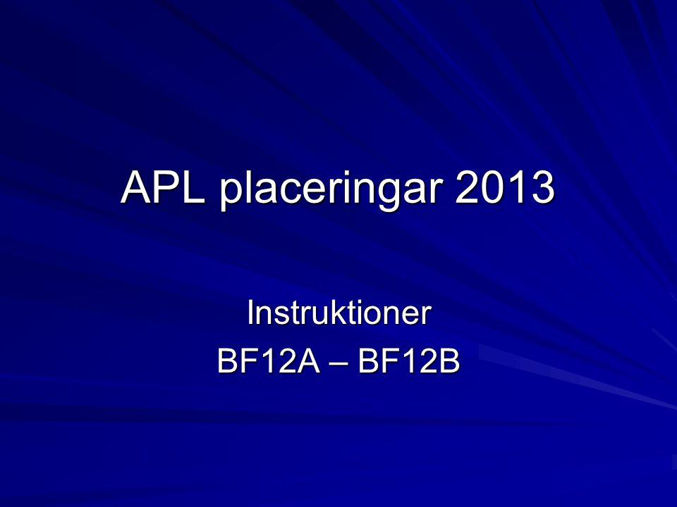 Instruktioner BF12A – BF12B