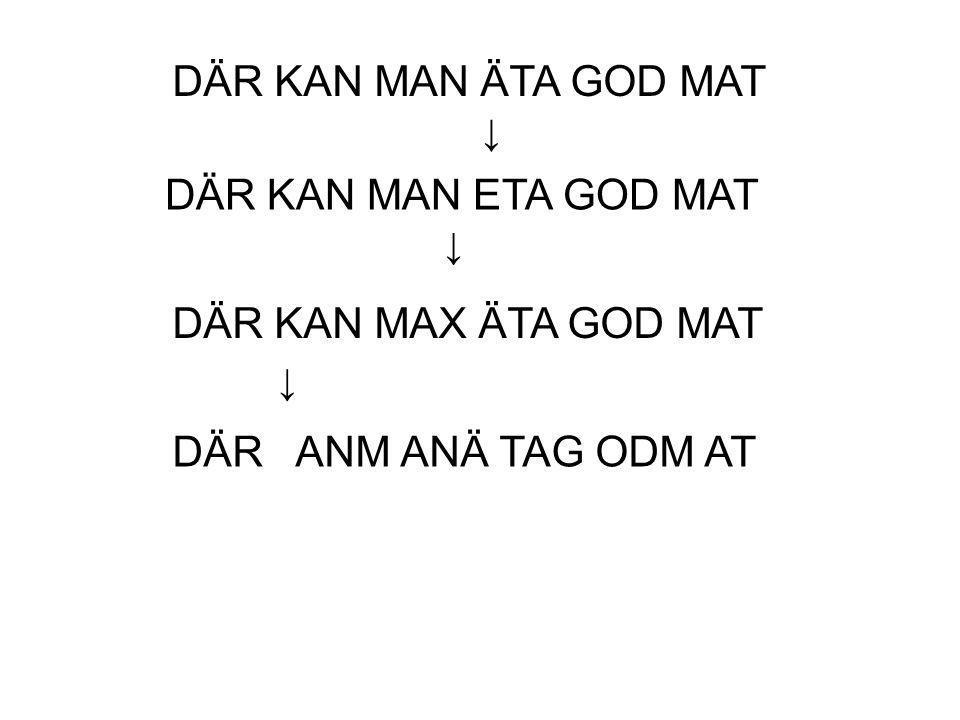 DÄR KAN MAN ÄTA GOD MAT DÄR KAN MAN ETA GOD MAT