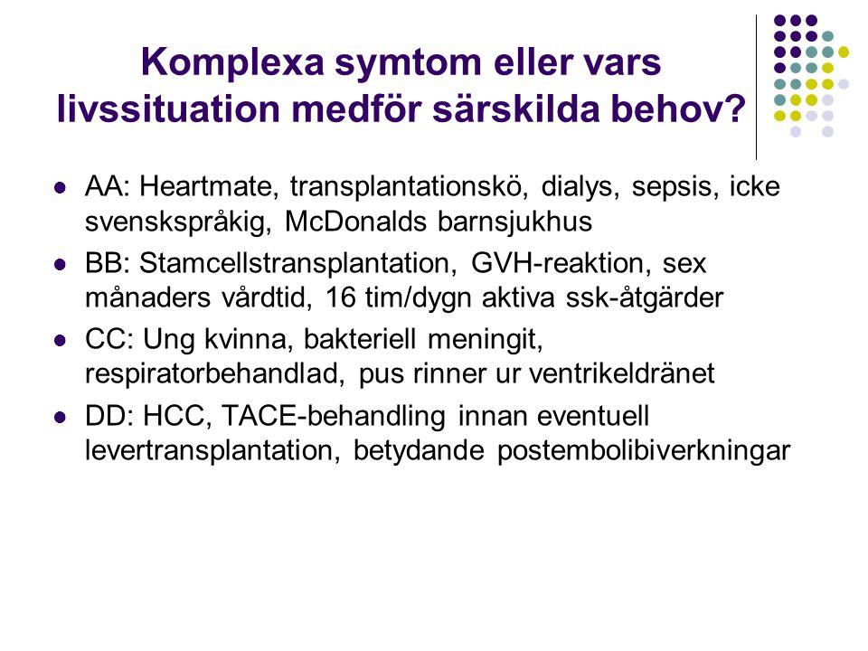 Komplexa symtom eller vars livssituation medför särskilda behov