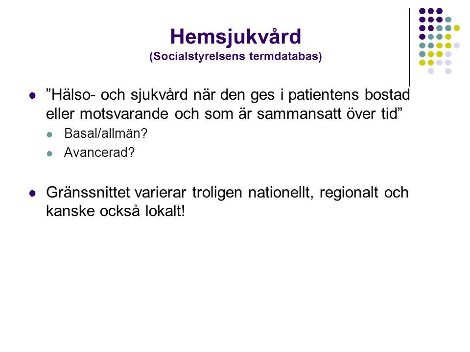Hemsjukvård (Socialstyrelsens termdatabas)