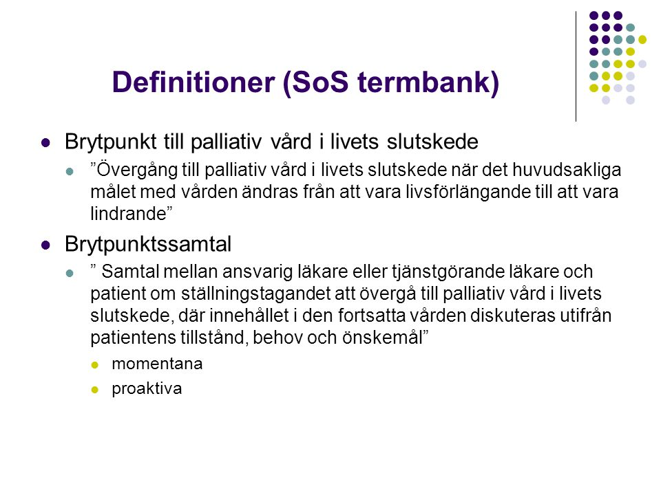 Definitioner (SoS termbank)