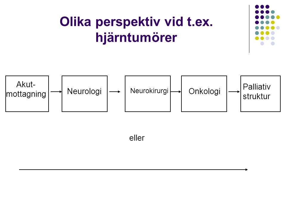 Olika perspektiv vid t.ex. hjärntumörer