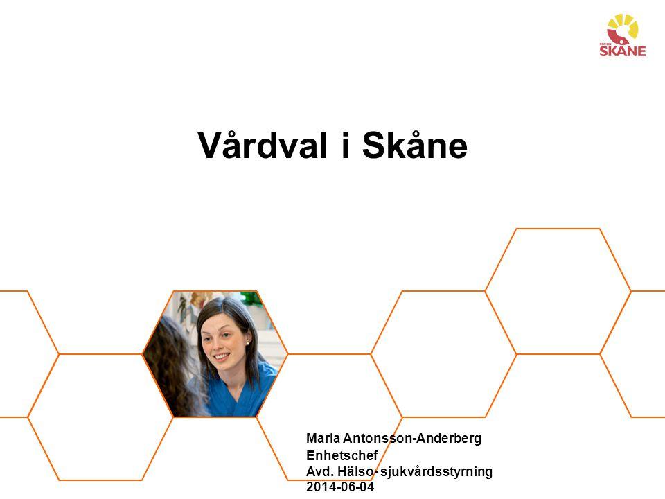 Maria Antonsson-Anderberg. Enhetschef. Avd. Hälso- sjukvårdsstyrning