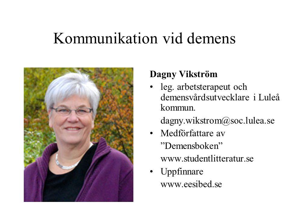 Kommunikation vid demens