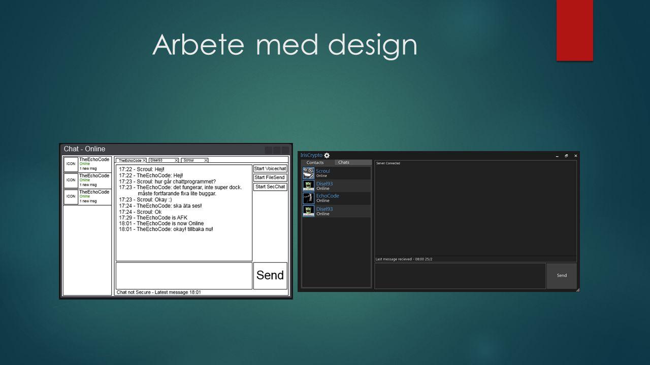Arbete med design