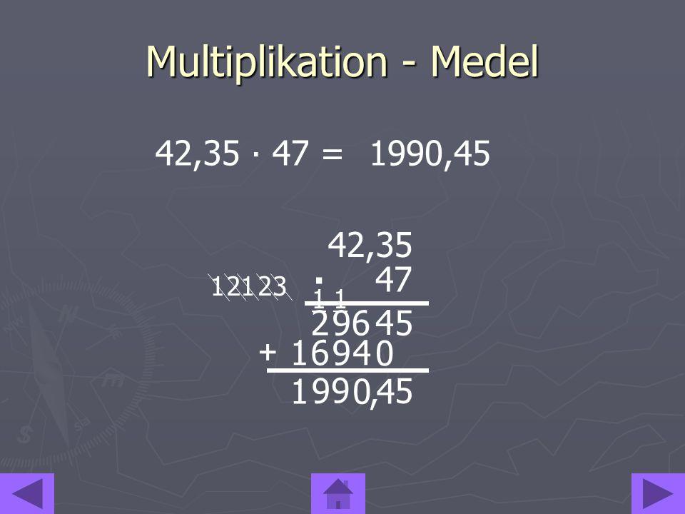 Multiplikation - Medel