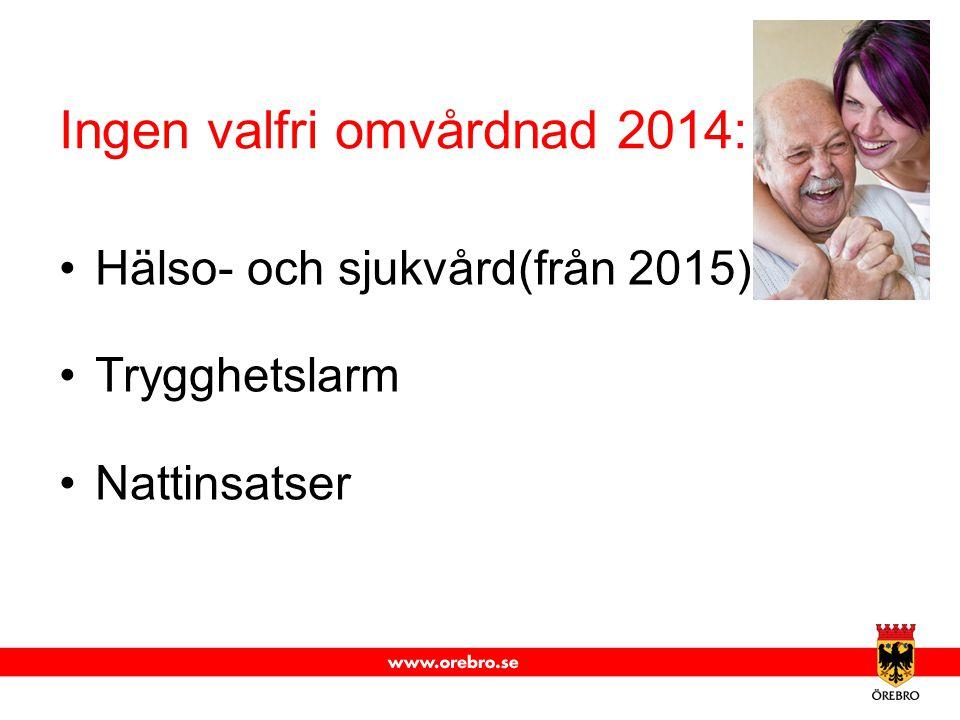 Ingen valfri omvårdnad 2014:
