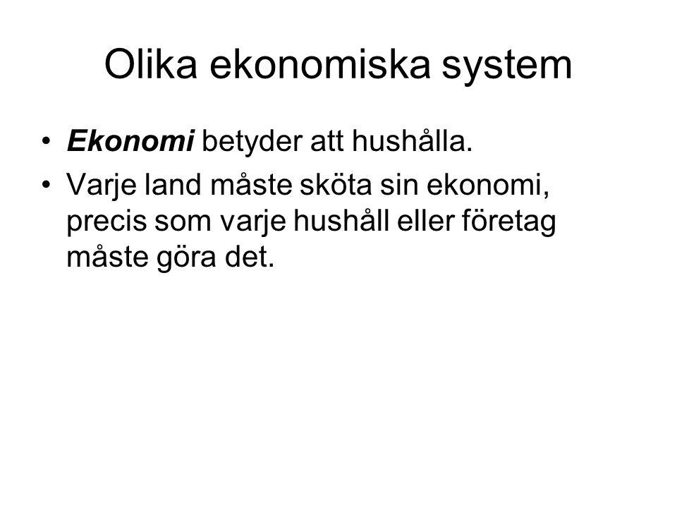 Olika ekonomiska system