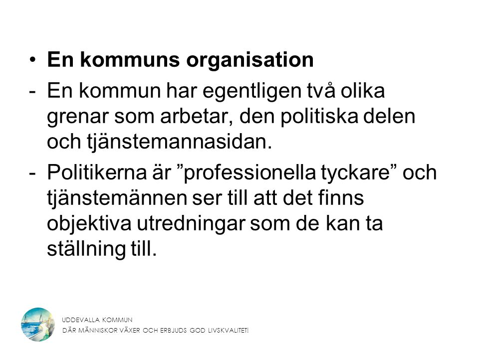 En kommuns organisation