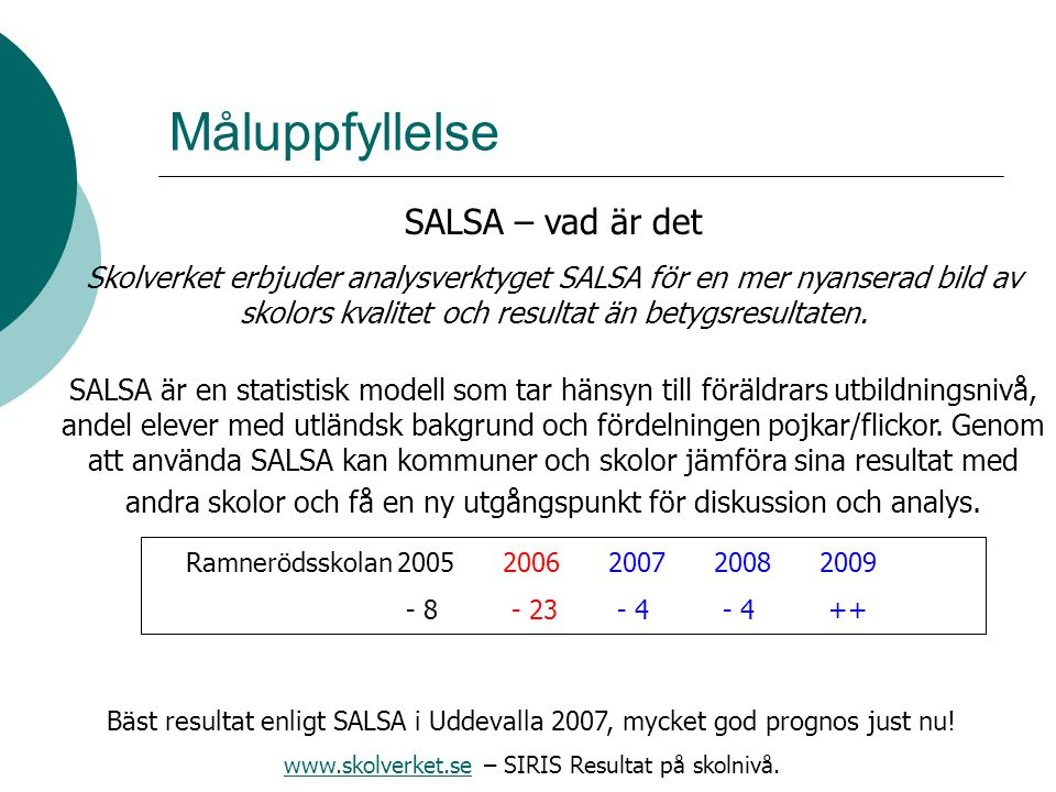 www.skolverket.se – SIRIS Resultat på skolnivå.