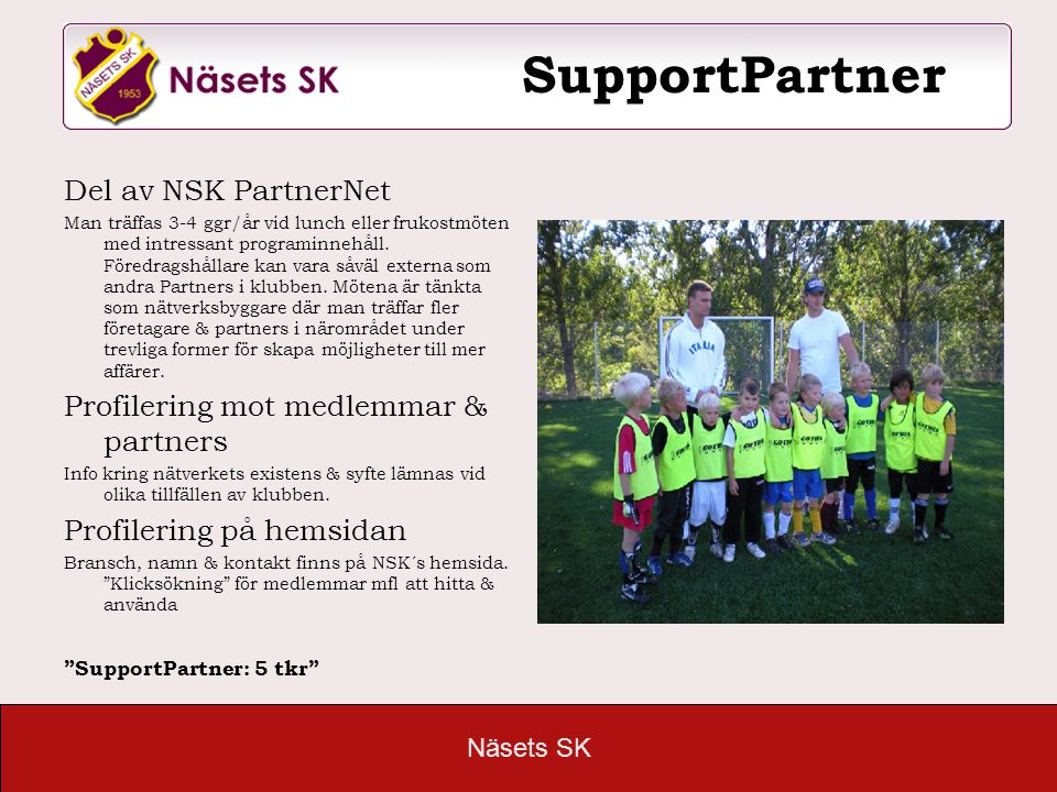 SupportPartner Del av NSK PartnerNet