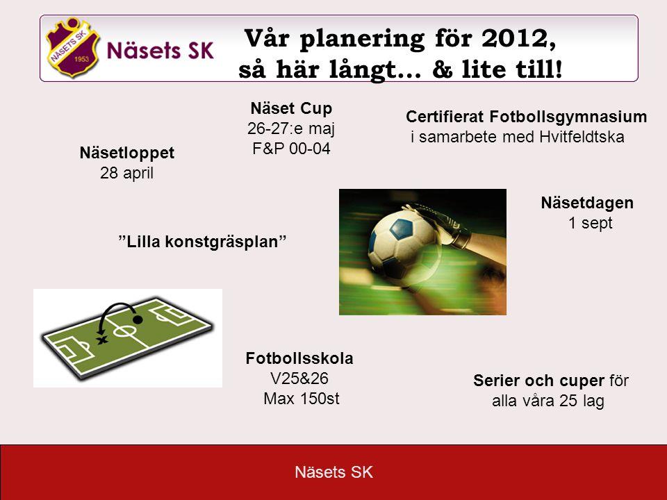 Vår planering för 2012, så här långt… & lite till!