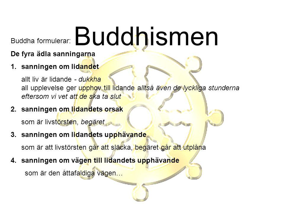 Buddhismen Buddha formulerar: De fyra ädla sanningarna