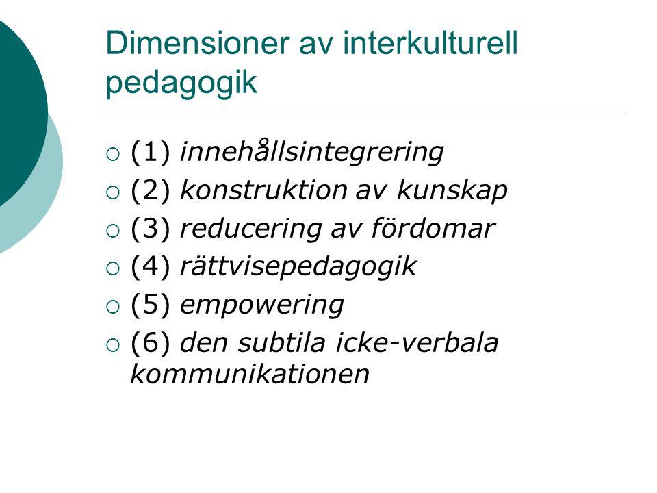Dimensioner av interkulturell pedagogik