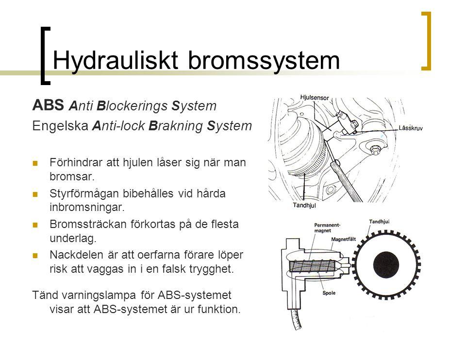 Hydrauliskt bromssystem
