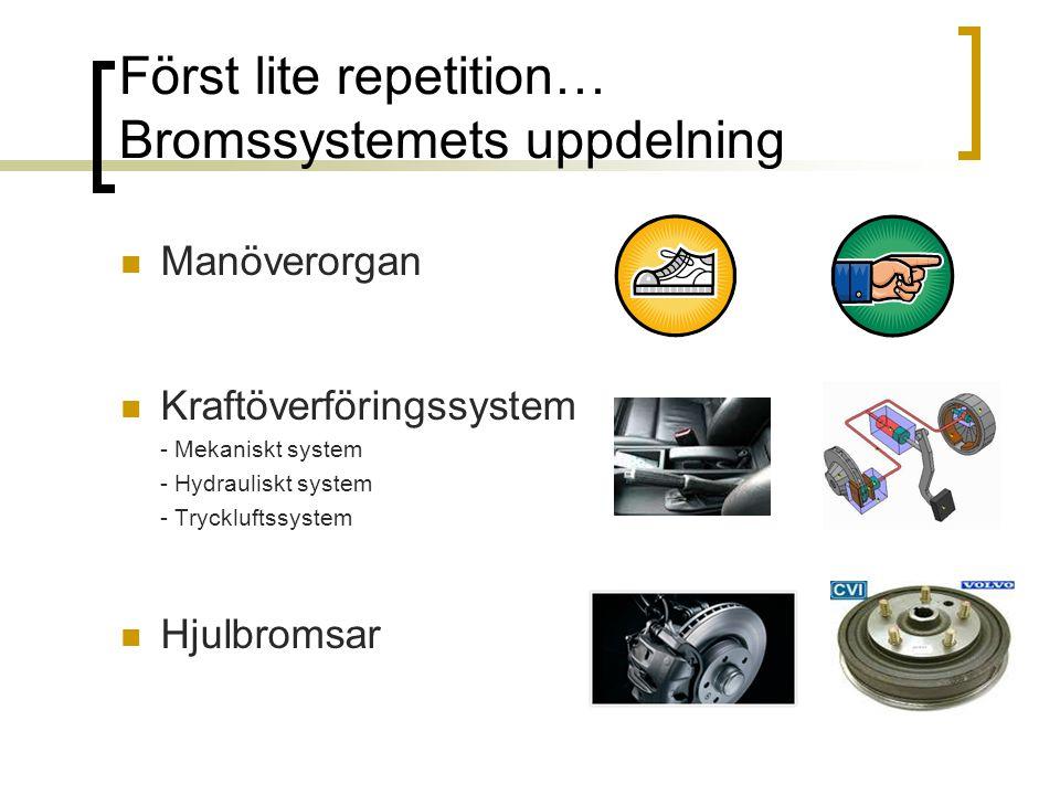 Först lite repetition… Bromssystemets uppdelning