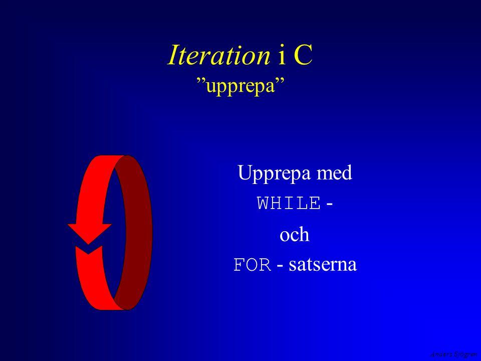 Iteration i C upprepa