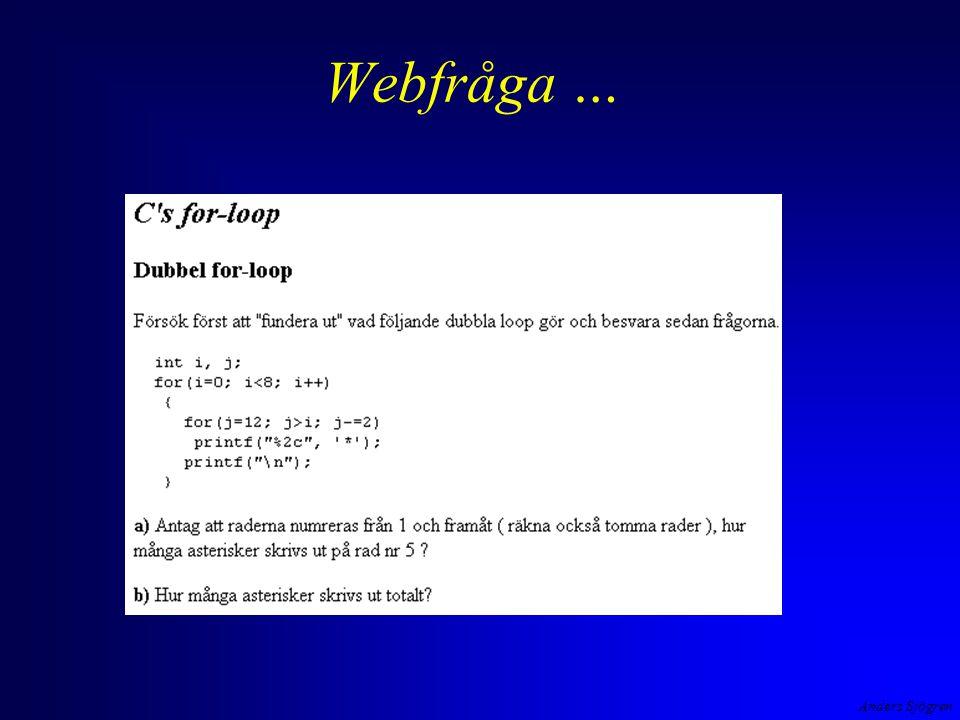Webfråga …