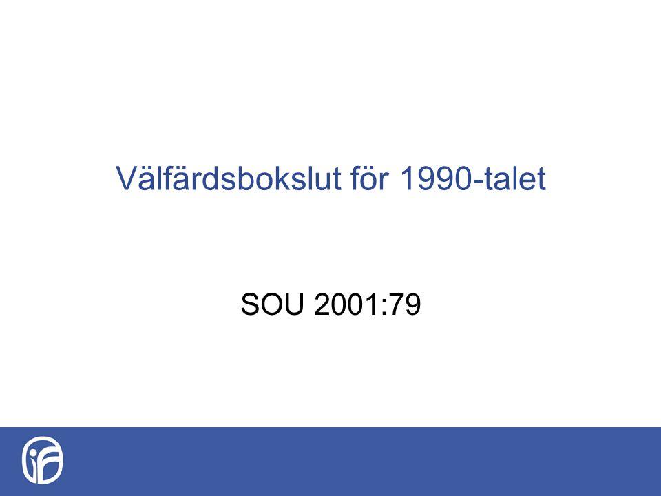 Välfärdsbokslut för 1990-talet