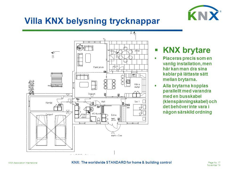 Villa KNX belysning trycknappar
