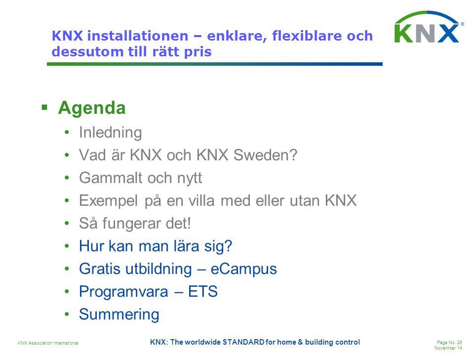 KNX installationen – enklare, flexiblare och dessutom till rätt pris
