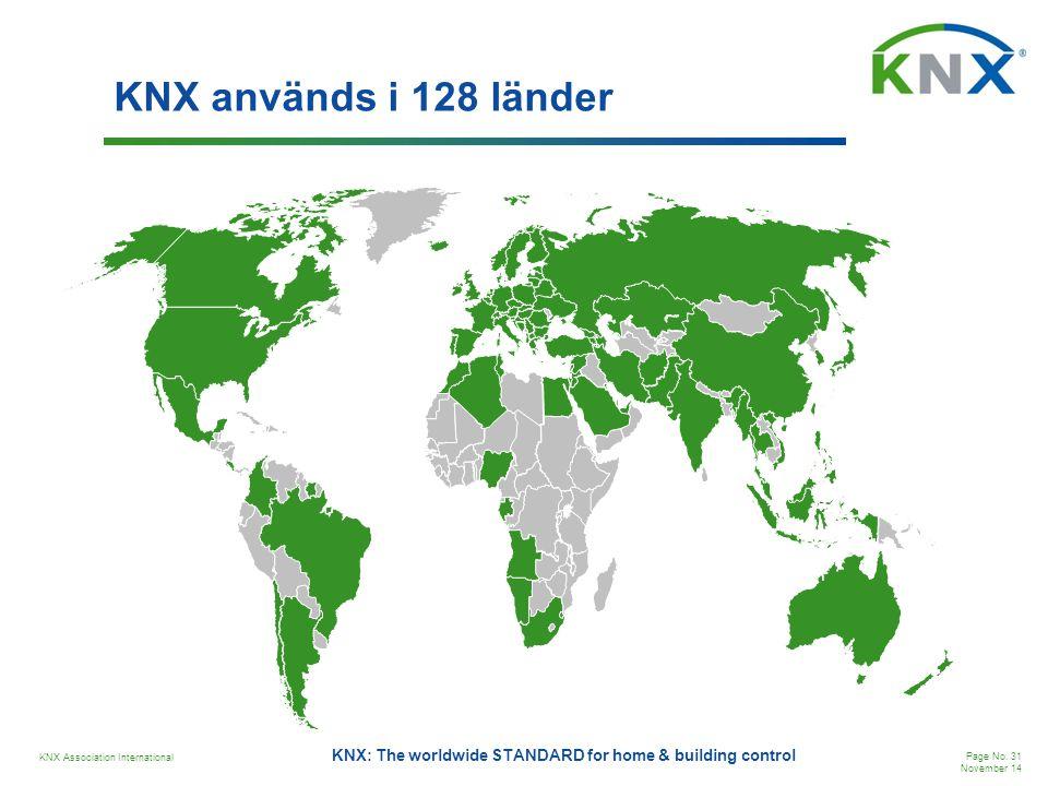 KNX används i 128 länder