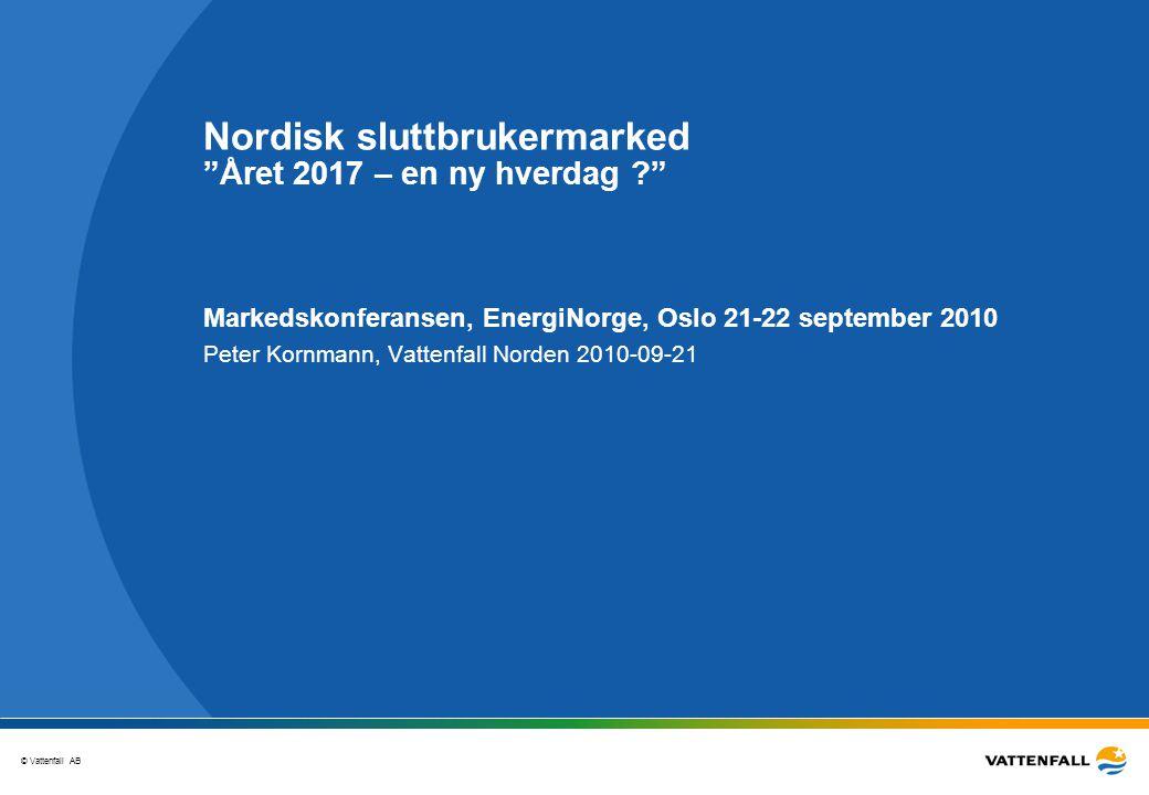 Nordisk sluttbrukermarked Året 2017 – en ny hverdag