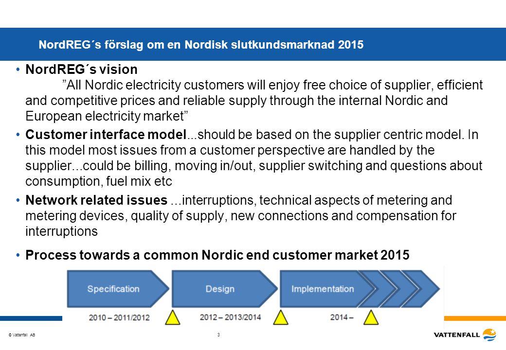 NordREG´s förslag om en Nordisk slutkundsmarknad 2015