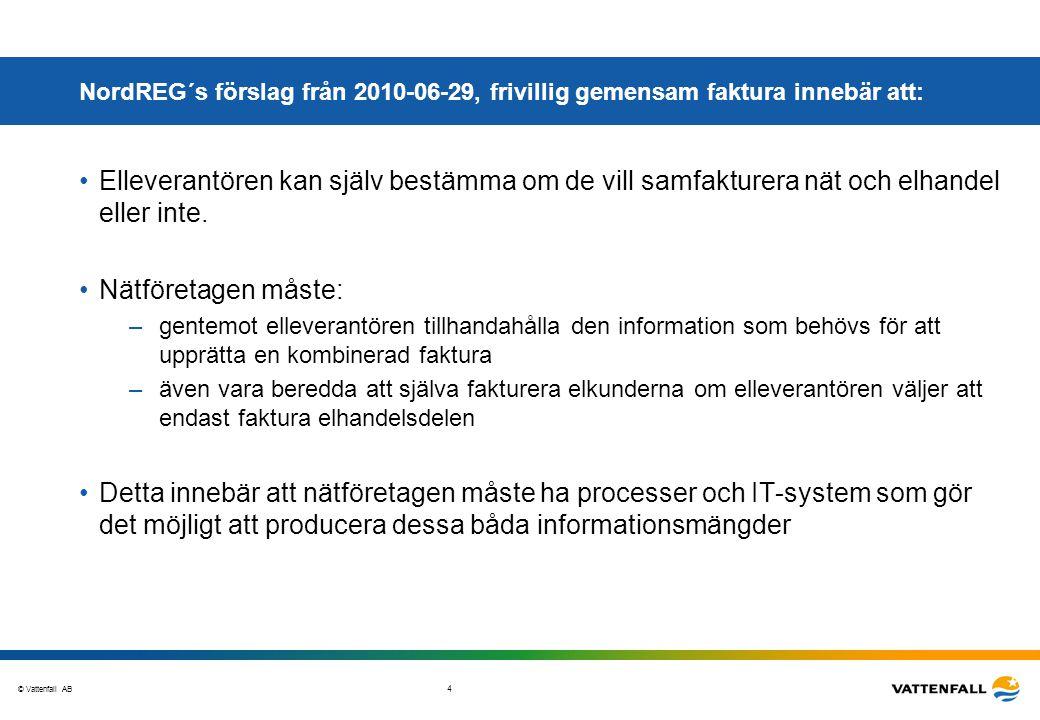 NordREG´s förslag från 2010-06-29, frivillig gemensam faktura innebär att: