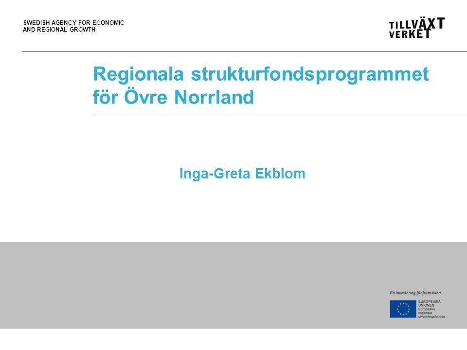 Regionala strukturfondsprogrammet för Övre Norrland