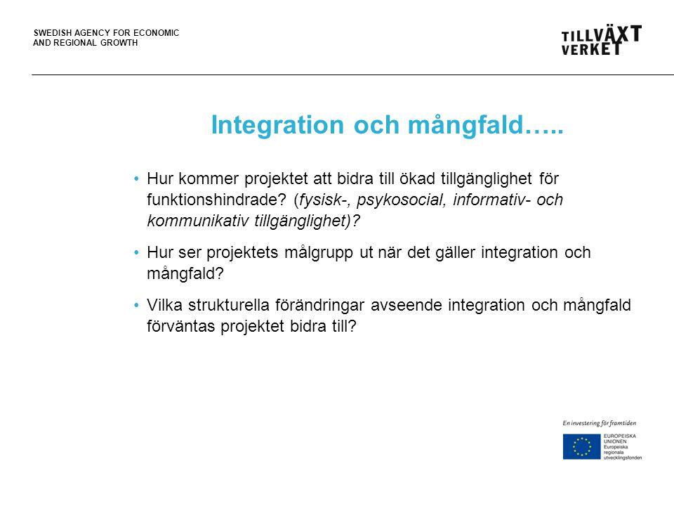 Integration och mångfald…..
