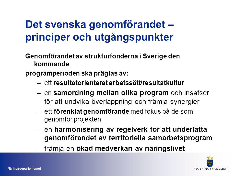Det svenska genomförandet – principer och utgångspunkter