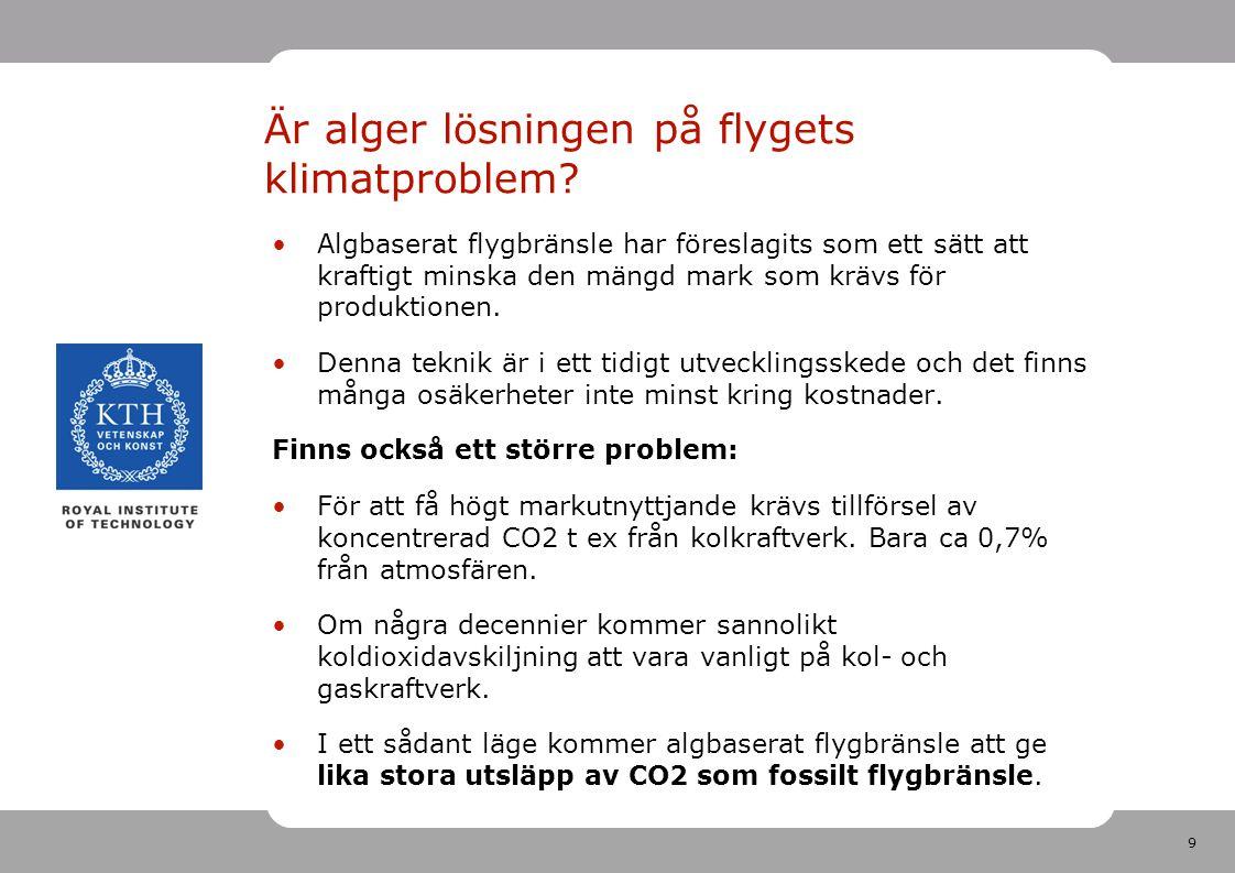 Är alger lösningen på flygets klimatproblem
