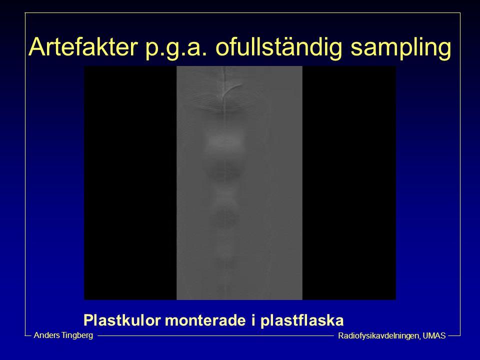 Artefakter p.g.a. ofullständig sampling
