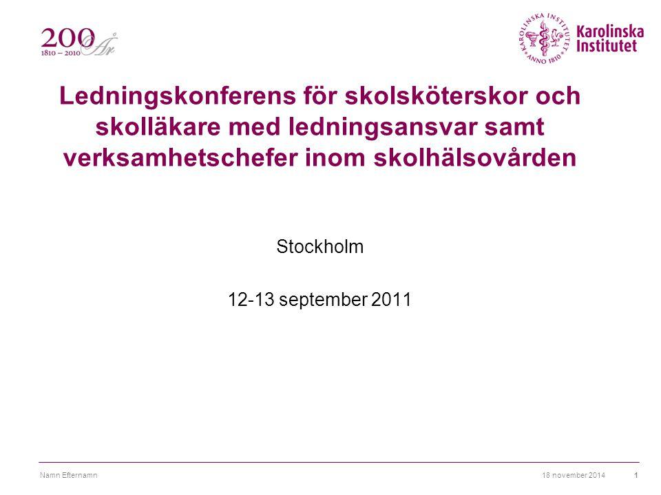 Ledningskonferens för skolsköterskor och skolläkare med ledningsansvar samt verksamhetschefer inom skolhälsovården